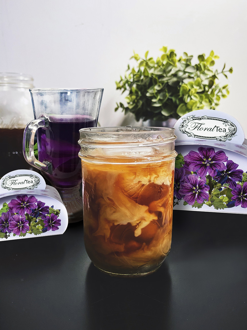 Iced Coffee with Wild Mallow by FloralTea