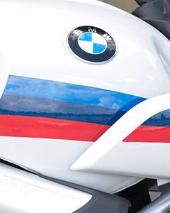 Franja en colores BMW Motorsport típicos