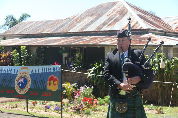Image of Graham playing the bagpipes