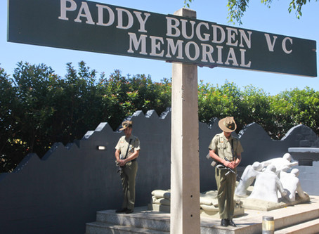 The sun shines on Paddy Bugden's Centenary commemoration