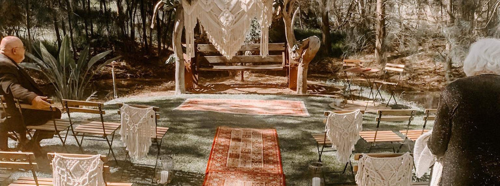 Boho Theme Ceremony