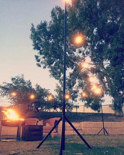 Festoon Lighting & Poles