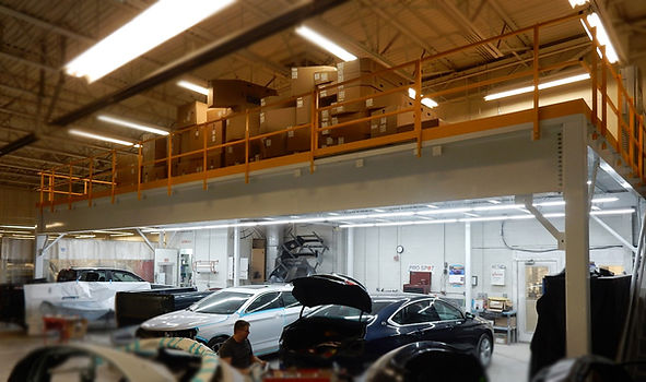 Auto Dealer Mezzanine Storage
