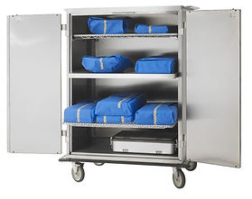 large stainless cart
