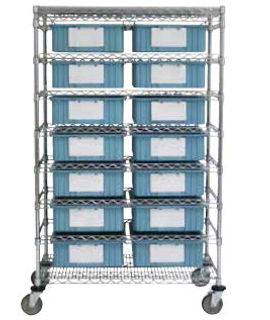 Double Bin Movable Cart