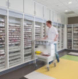 High Density Pharmacy Shelving