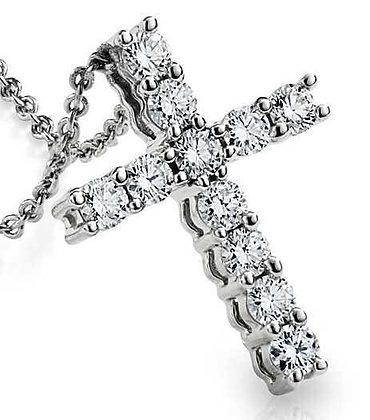 Подвеска крест с бриллиантами