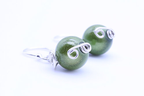 Green bead small