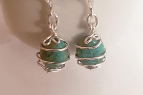 Turquoise Stone Wrap Earring | KVD11030