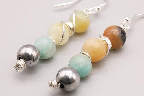 Multi Colour Amazonite Earring