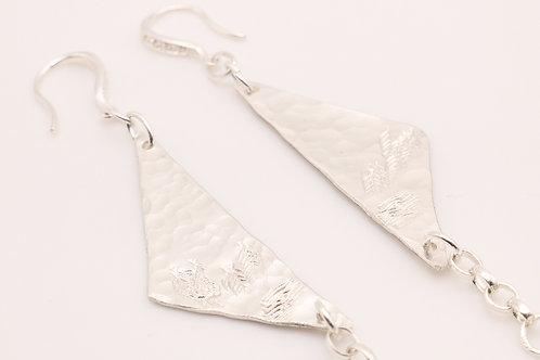 Sterling Silver Pendant Dangle Earrings
