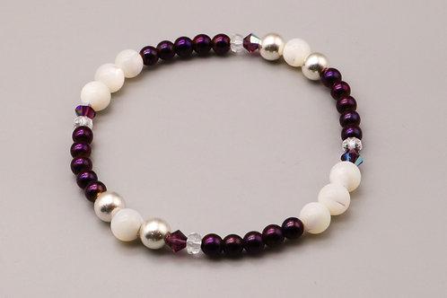 Purple -White Bubble Bracelet