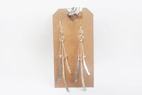 Silver Dangle Earring with Beads | KVD11013