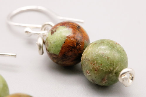 Green Opal Beaded Earring