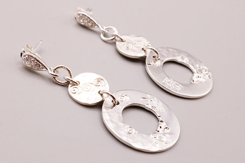 Sterling Silver Circle Swirls