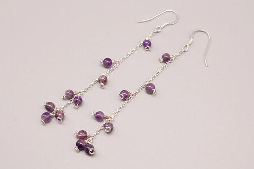Purple Bubble Dangle Earring