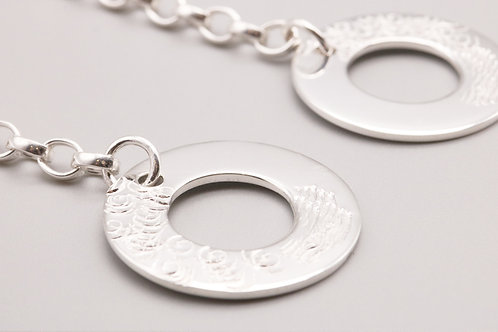 Sterling Silver Circle Danglers