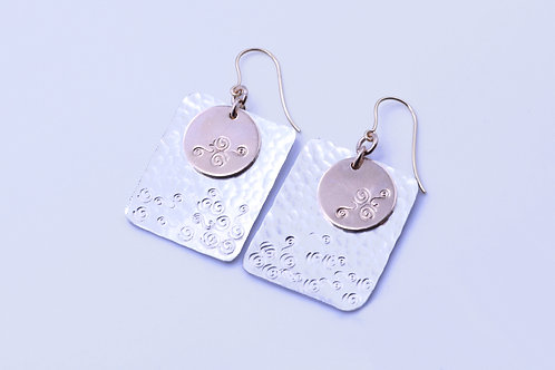 Circle meets square  earrings