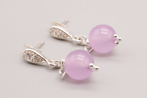 Lilac Stud Earring