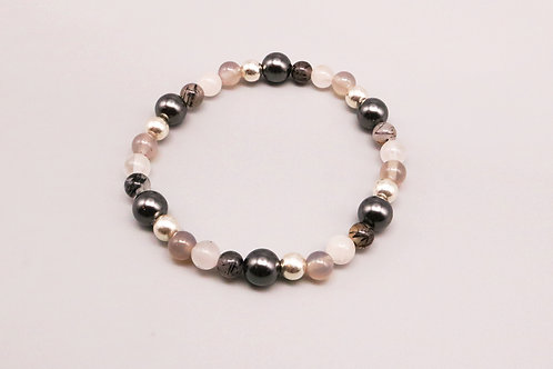 Black, grey, white Bracelet