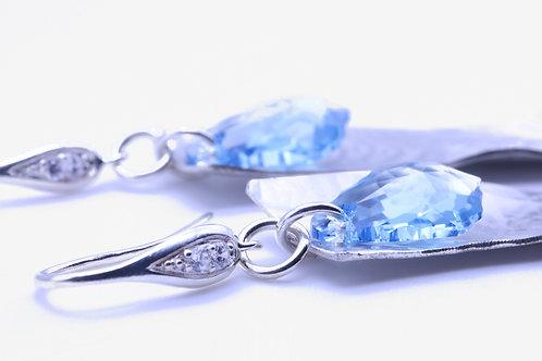 Sterling Silver Blue drop Earring