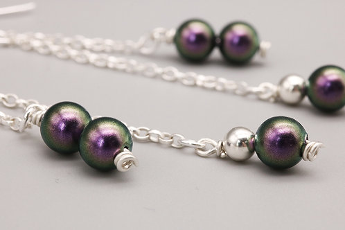 Purple and Sterling Silver Dangle