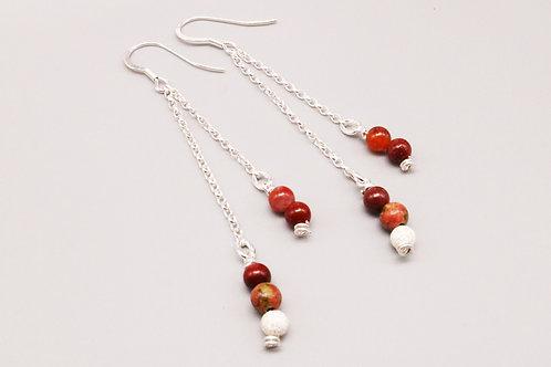 Red Dangle Earring