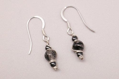Black Hematite Beaded Earring