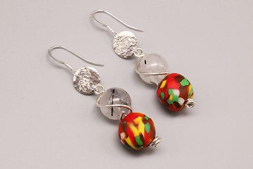 Quartz Dangle Earring