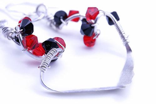 Red and Black Swarovski Crystal | KVD11022