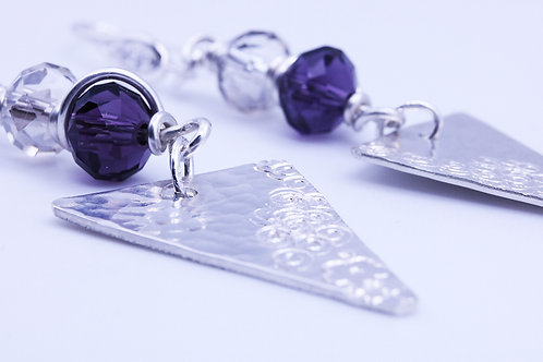 Purple and Clear Beaded Dangle | KVD11007