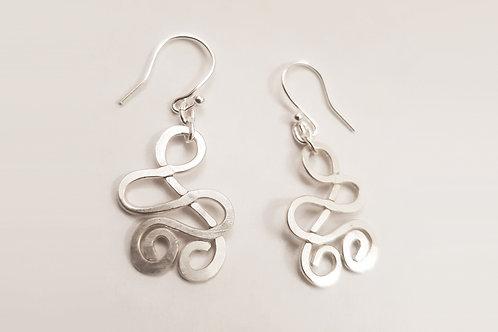 Double Swirl Hook Earring   KVD11031