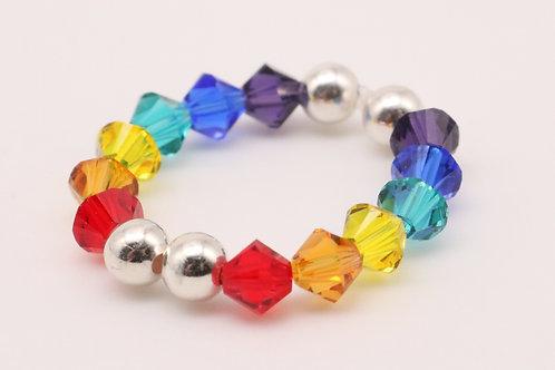 Silver Rainbow Ring