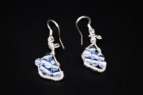 Blue Bead Sterling Silver Earring