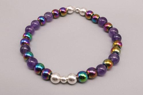 Amethysts- Rainbow Bracelet