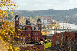 WVU - Woodburn Hall river