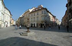 Comenius-BA - pedestrian zone