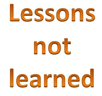 Преграды для извлечения уроков