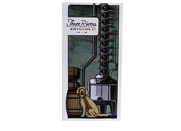 Distillery Dog: Poster & Sticker
