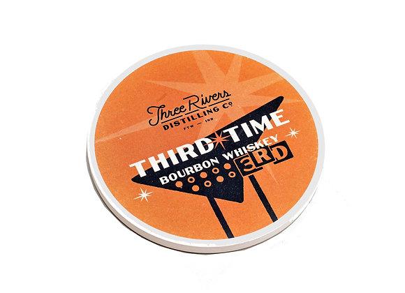 Third Time Bourbon Coaster