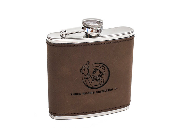 Whiskey Man Leather Flask