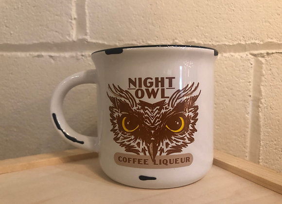Night Owl Mug - Distressed White