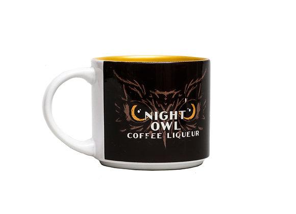 Night Owl Mug - Brown & Gold
