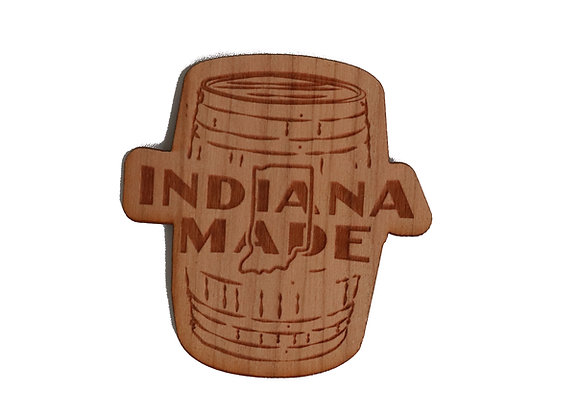 Wooden Barrel Logo Sticker