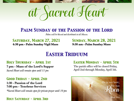 Holy Week at Sacred Heart Church