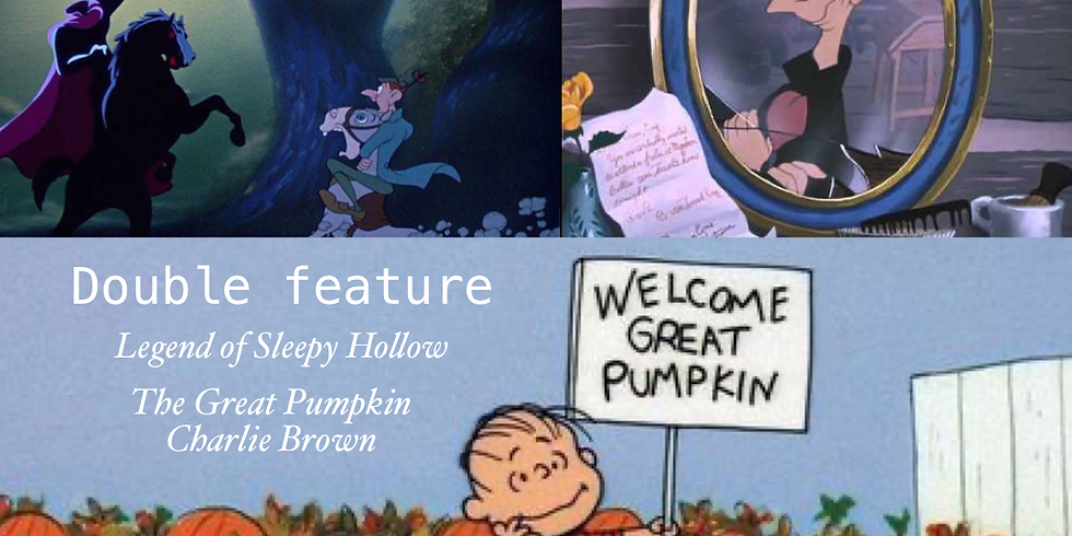 SOLD OUT The Legend of Sleepy Hollow & The Great Pumpkin Charlie Brown