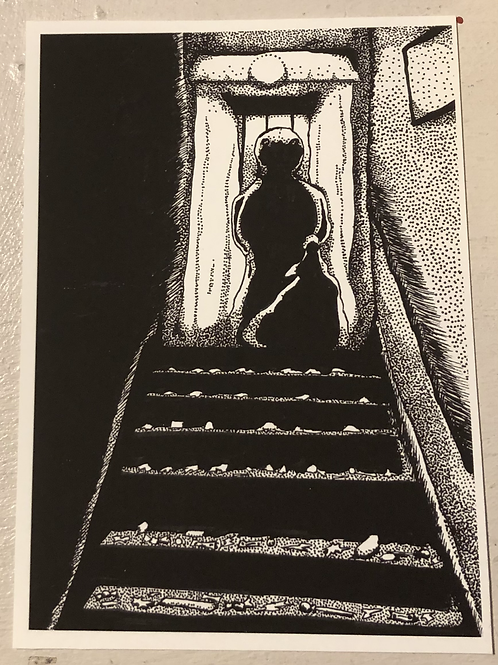 "PRINT: Grace Gordon ""Sam in the Stairwell"""