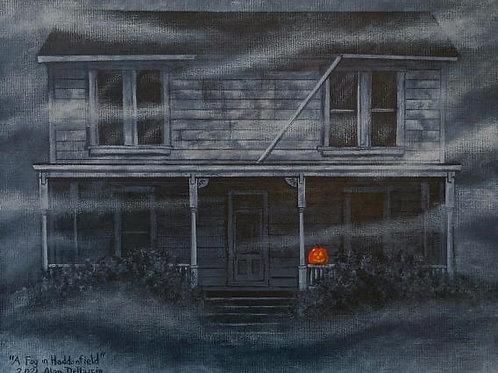 """Alan Dellacio """"A Fog in Haddonfield"""" print"""