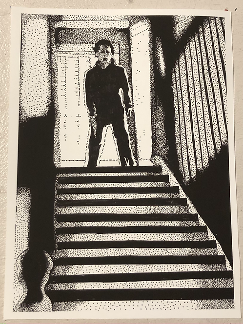 "PRINT: Grace Gordon ""Michael in the Stairwell"""