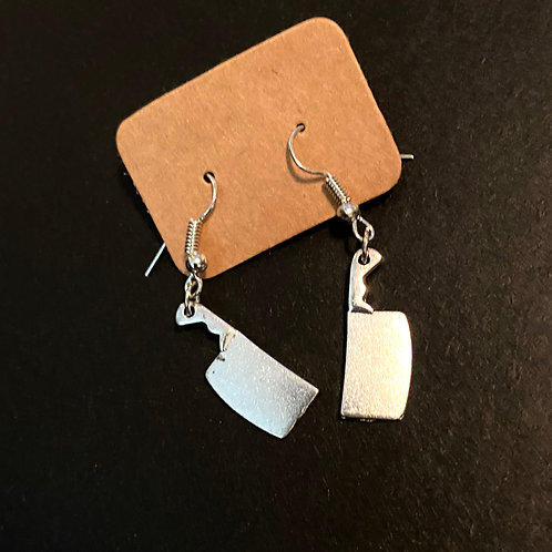 Cleaver Knife Earrings